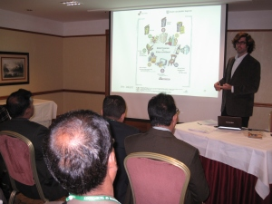 Speaking to a Delegation of Bangladeshi Government officials about Environmental Responsibility while I was in Salzburg.