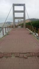 Broken bridge.