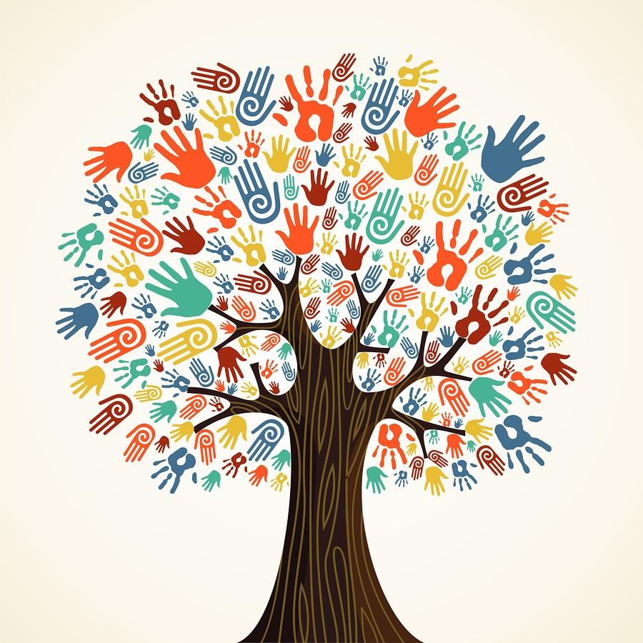 Isolated diversity tree hands